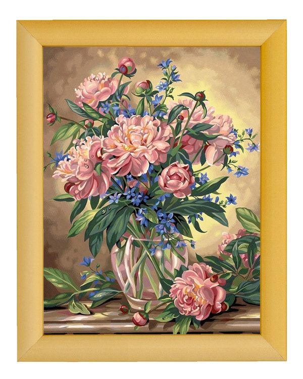 Paint by numbers Blommor