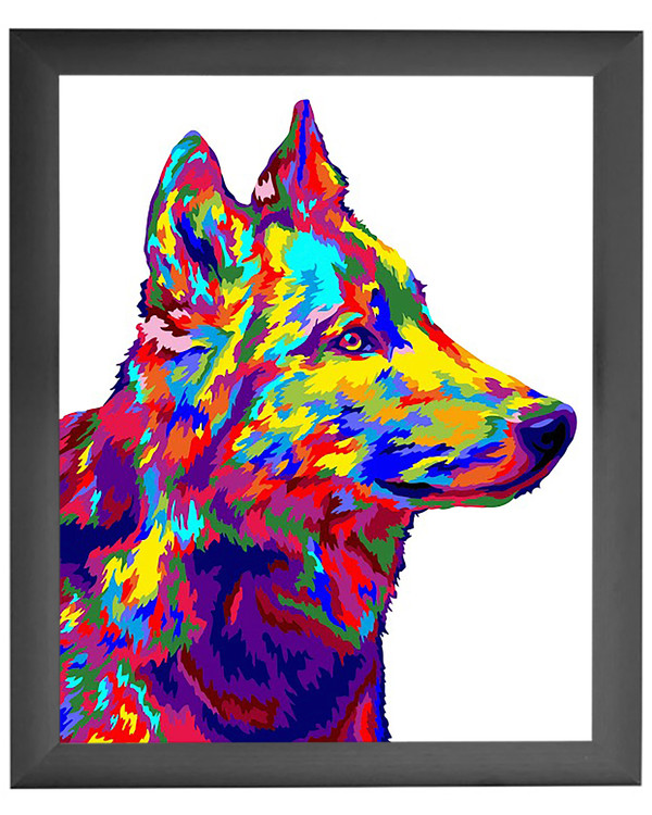 Paint By Numbers Wolf