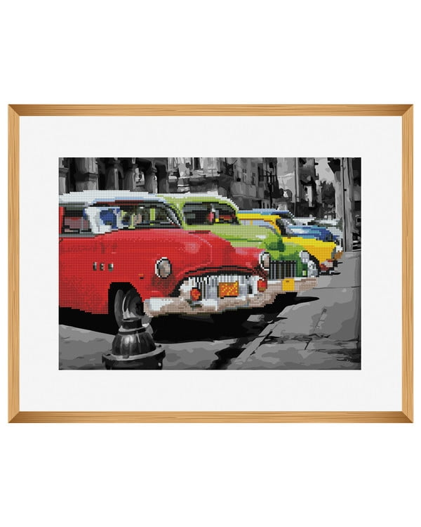 Diamond painting/ Paint by numbers Retroautot