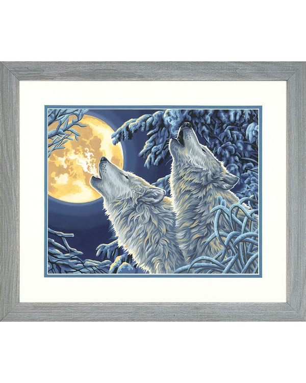 Paint by numbers Moonlight wolves