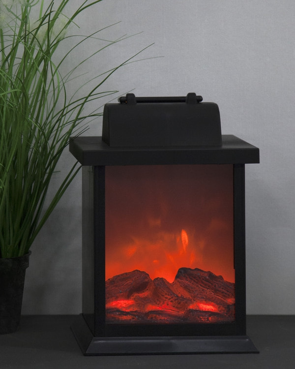 Lykt Fireplace LED lys
